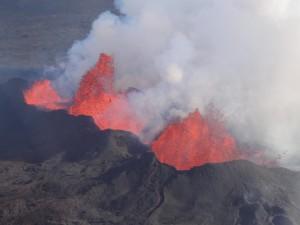 Brodelnde Lava in Holuhraun. 16. September 2014