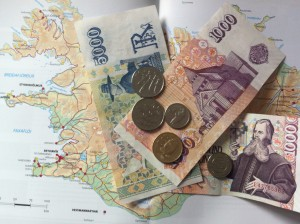Isländische Kronen, die Geldwährung in Island