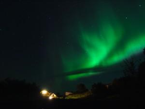 Nordlicht im Borgarfjördur. 16.09.2014