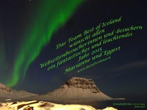 Ein Nordlicht über dem Kirkjufell, ein Wunsch ging in Erfüllung. 07.12.2014
