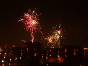Gigantisches Feuerwerk zum Jahreswechsel in Reykjavik. 31.12.2014/01.01.2015