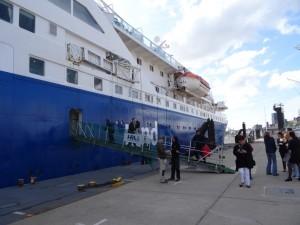 Grosse Geschäftigkeit im Hamburger Hafen. 13.05.2015