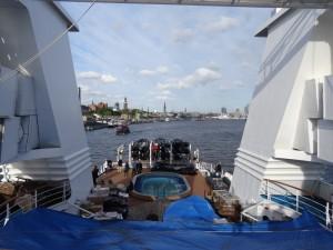 Auf der Spritztour im Hafen Hamburg. 13.05.2015