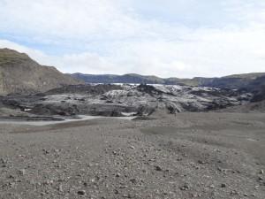 Solheimajökull mit Gletscherfluss. 30.08.2012