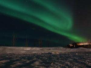 Nordlichtglück gleich kurz nach der Ankunft in Minni Borgir. 09.02.2016