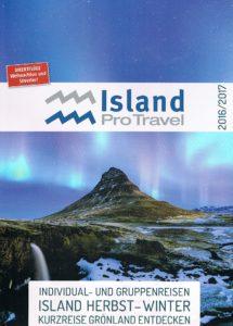Titelbild Winterkatalog von Island ProTravel. 20.09.2016