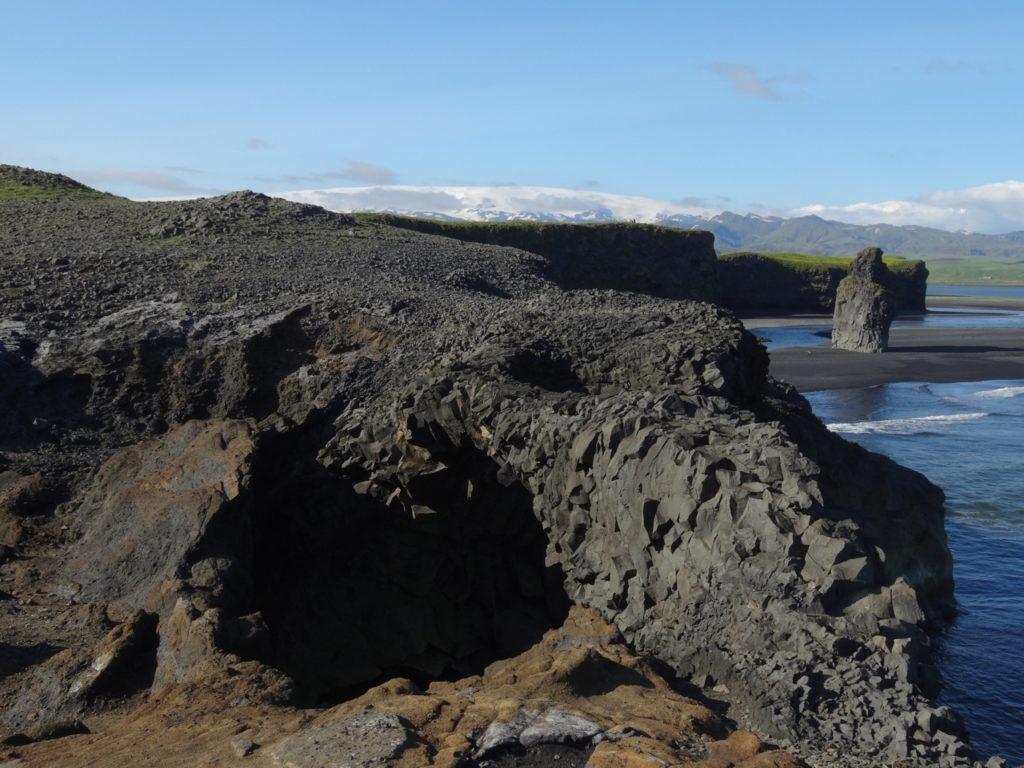 Myrdalsjökull mit Vulkan Katla von Kap Dyrholaey. 22.06.2014